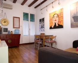 Arty apartment for rent in Ciutat Vella