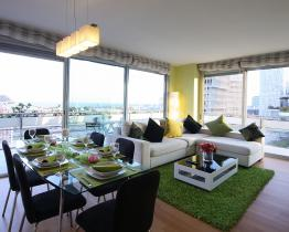 Green luxe appartement in Diagonal Mar