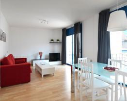 Leilighet med balkong, WiFi, TV, Sitges sentrum
