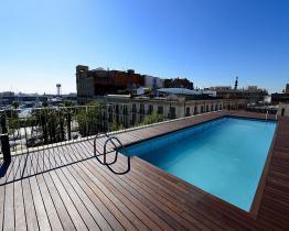 Эксклюзивные Gótico квартира с бассейном на крыше