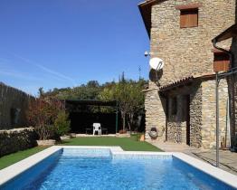 Rustik Masía land hem med pool och 5 sovrum i Lleida