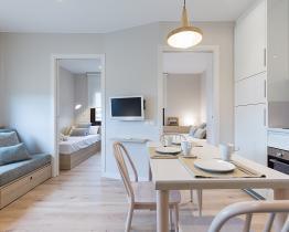 Stylowy apartament z 2 sypialniami, Barcelona