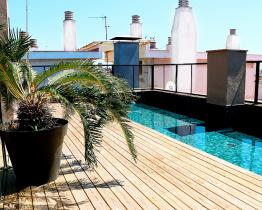 Design appartement met 2 decoratieve zwembaden in Sant Antoni