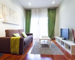 Ljus och rymlig lägenhet uthyres i Barcelona, lägenhet 1