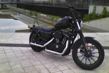 Moto clásica para rodajes
