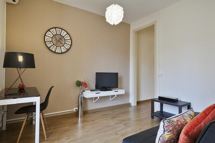 Spacious living room with LCD - TV