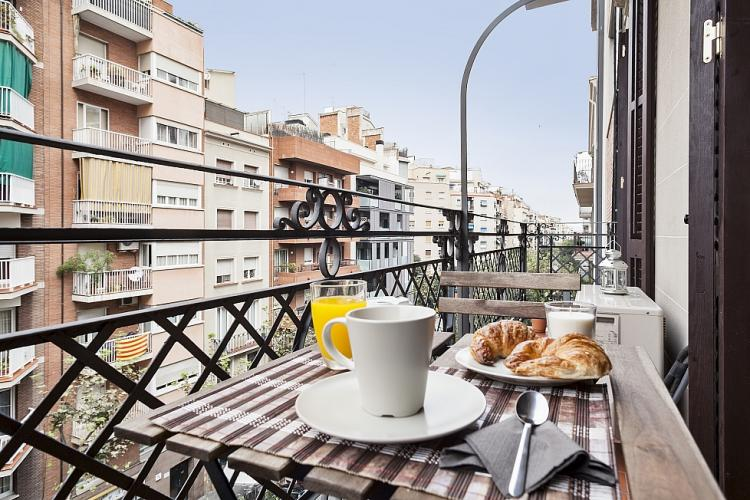 Charming balcony space, perfect to have your morning coffee or late evening break