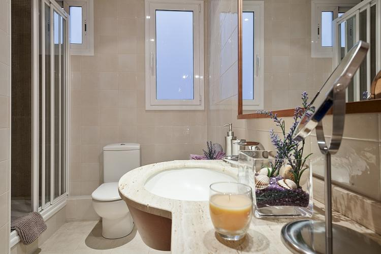 The bathroom has thermostatic mixer shower, incredibly useful for enjoying your bath time