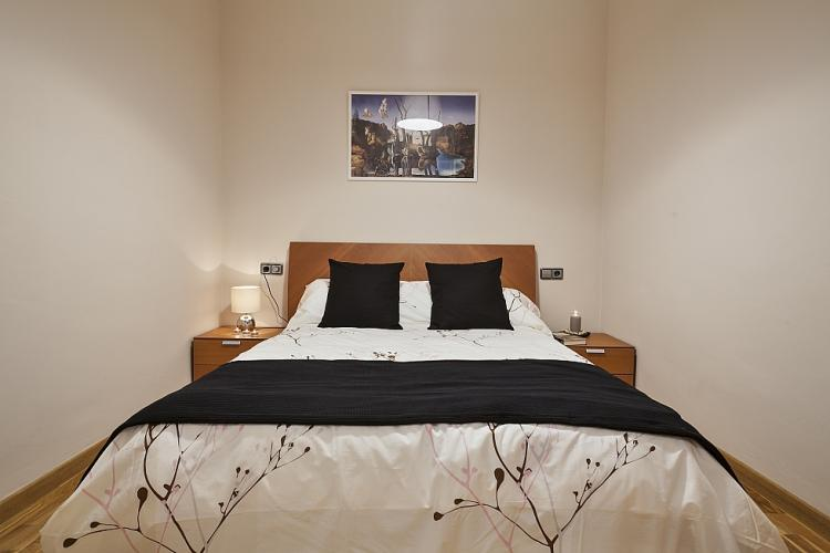 Wonderful bedroom with a double bed