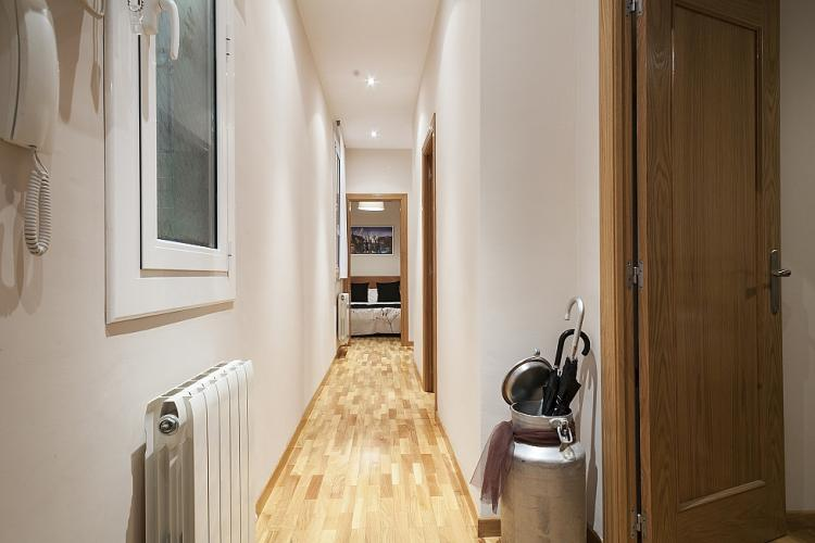 Hallway connects sleeping rooms