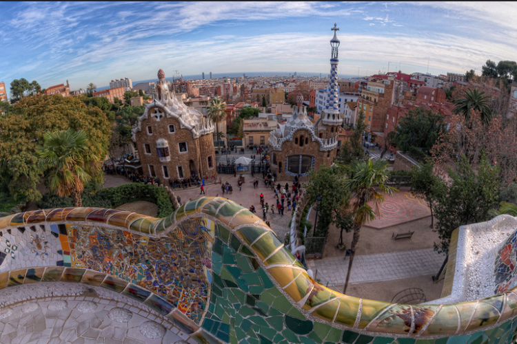 Parc Guell is also very close and easily reachable