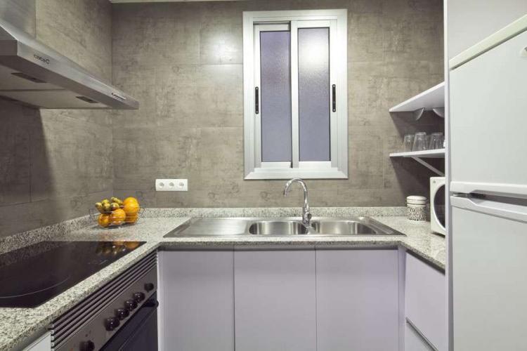 Chic and modern kitchen.