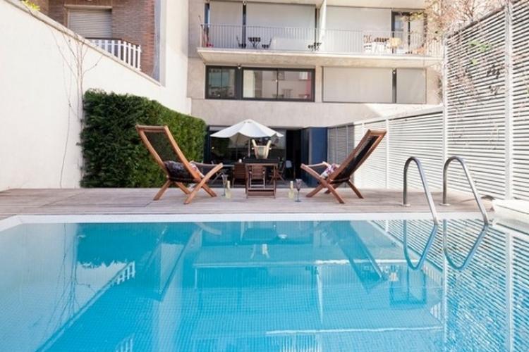 Alojamiento con piscina en alquiler en Barcelona