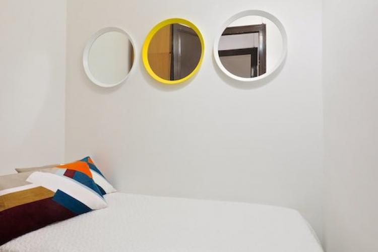 Collection of pretty round wall mirrors.