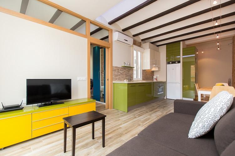 Apartamento de estilo industrial para alquiler en Barcelona.