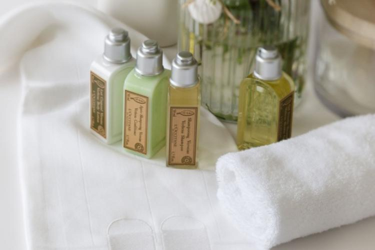 Wonderful little details, like these soaps and shampoos, are provided to make your stay a comfortable and luxurious experience.