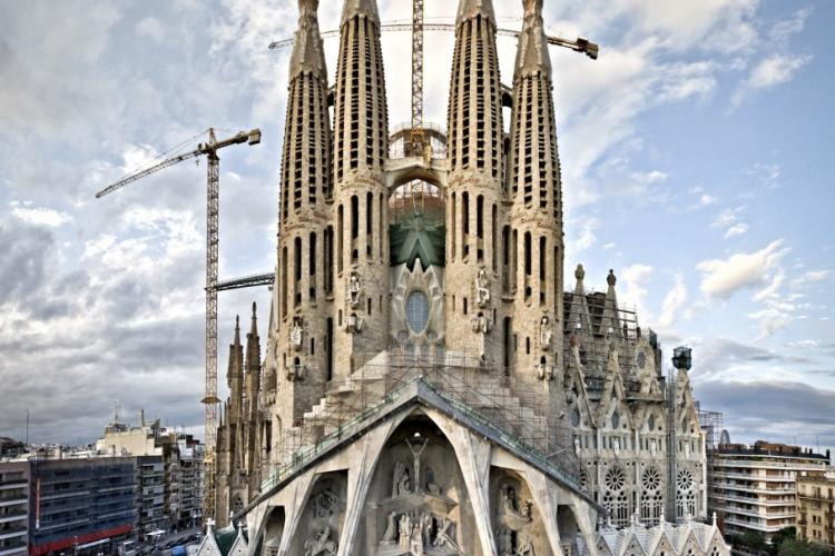 The famous Sagrada Familia of Gaudi