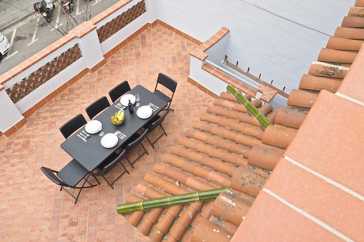 You can always catch a bit of fresh air here on this spacious terrace.