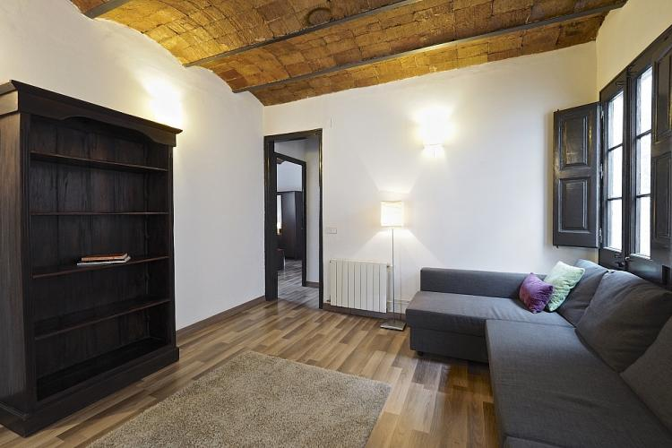 We love the combination of brick vaulted ceilings and smooth parquet floors throughout the  interior.