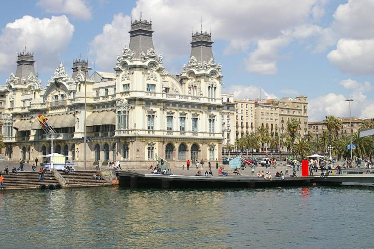 The gorgeous Port Vell is just a short walk away.