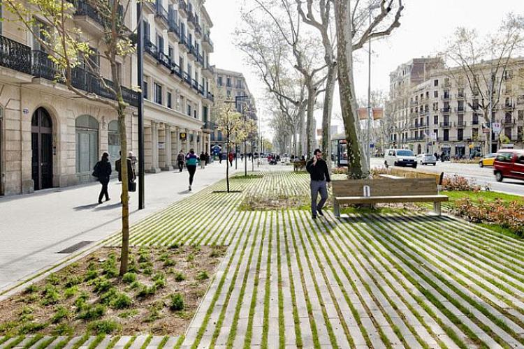 Take a stroll down the tree-lined Passeig de Sant Joan