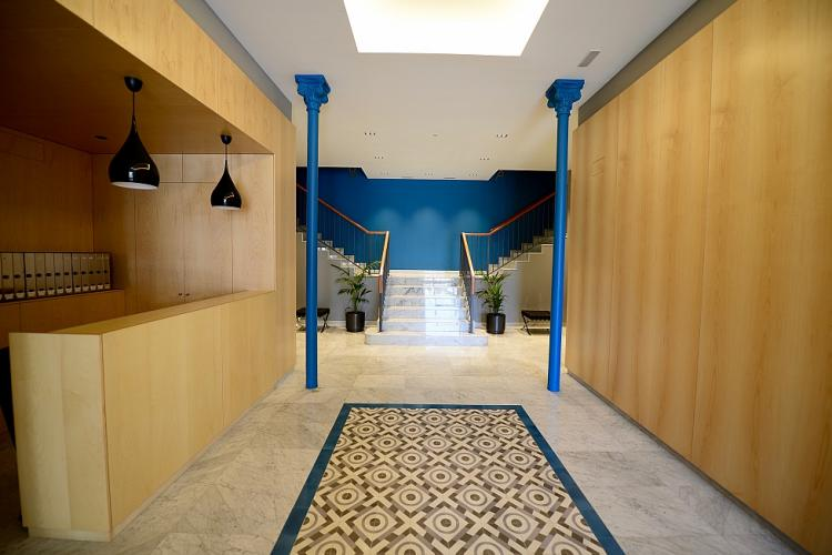 Sophisticated entrance hall of the building, with concierge.