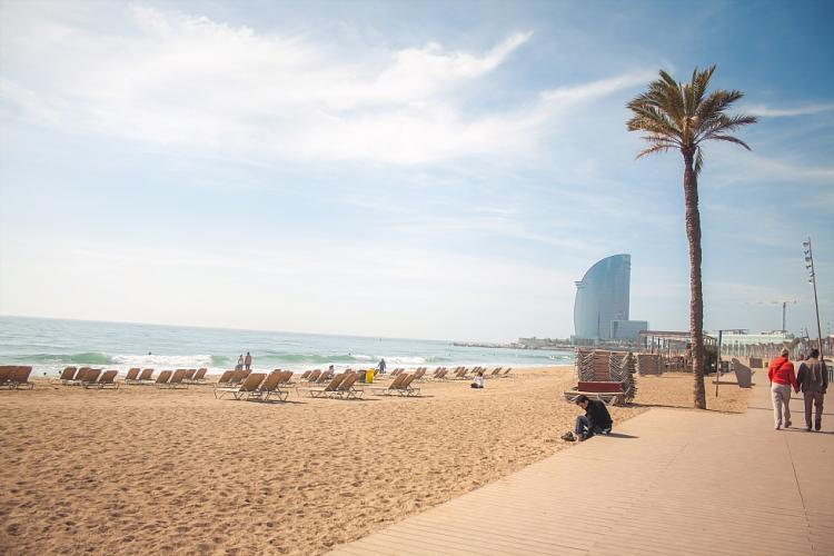 Barceloneta beach is just a short walk away.