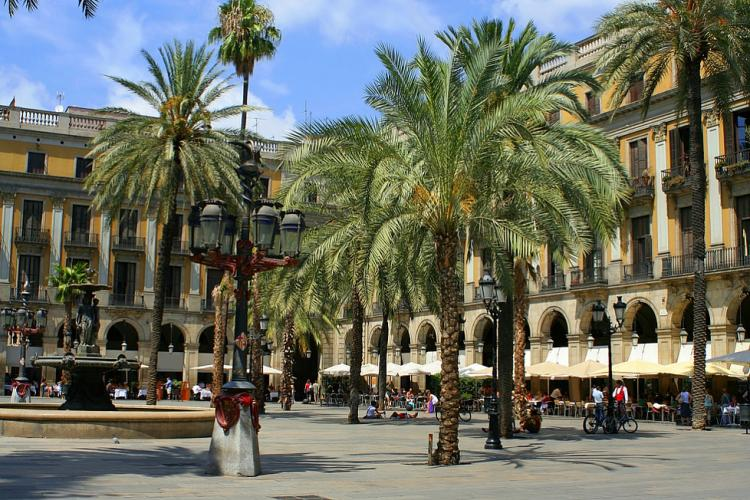 Enjoy a leisurely lunch on Plaza Reial.