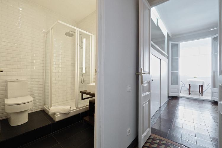 The private lounge with loft bedroom is located conveniently close to a full bathroom with shower.