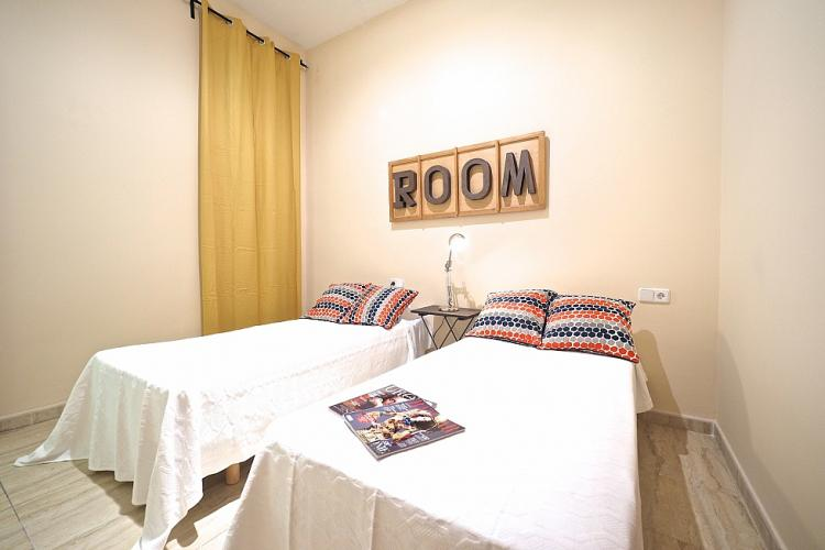 This room with two beds is great for two friends or 2 children to share.