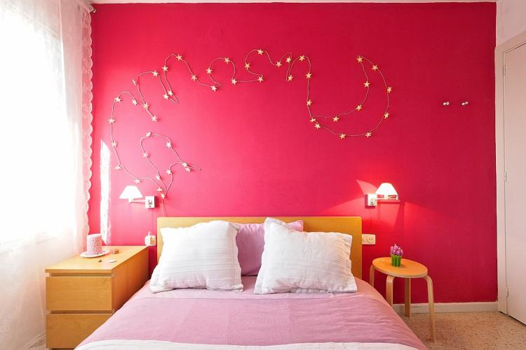 Adorable wall decorations  adding some floral charm to the room.