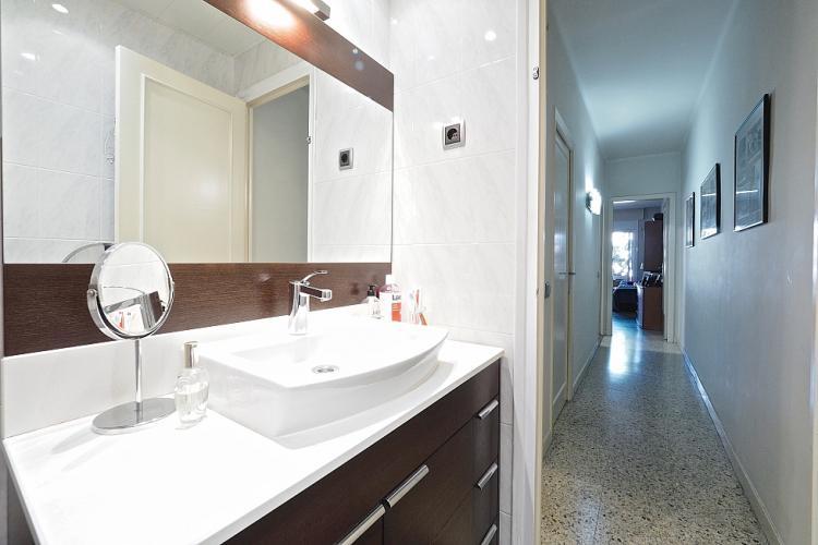 Elegant bathroom with crisp white tones.