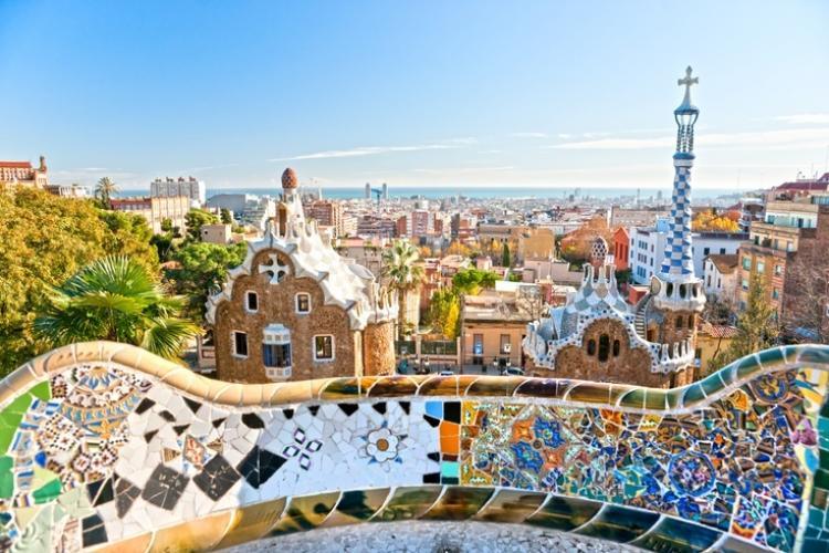 Visit Gaudi's famous Park Guell.