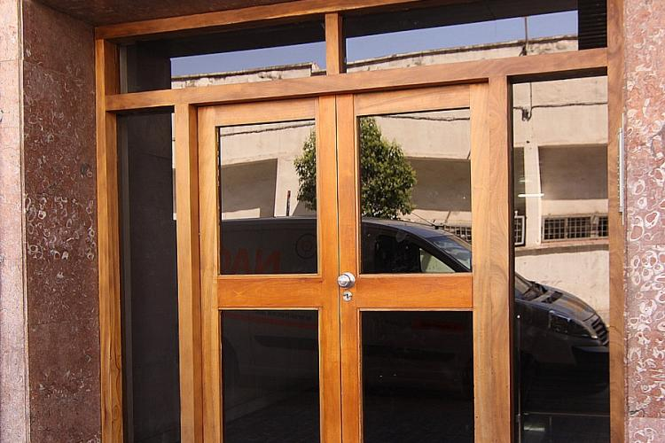 Entrance to the modern building.