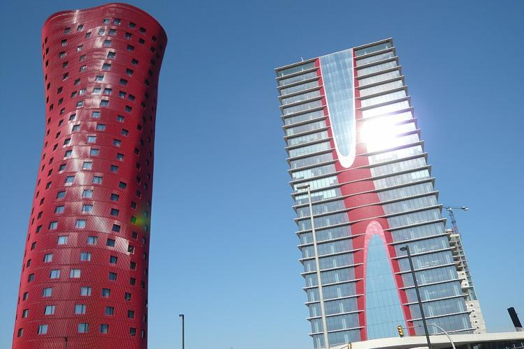 Architecture of the Hospitalet area.