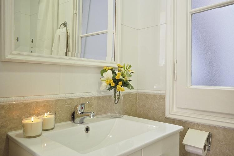 Ensuite bathroom with spa-like design.