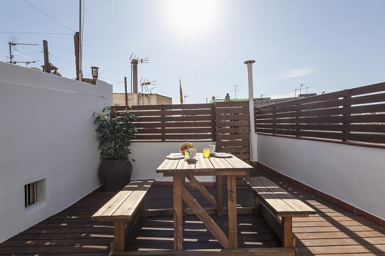 Community sunny terrace.