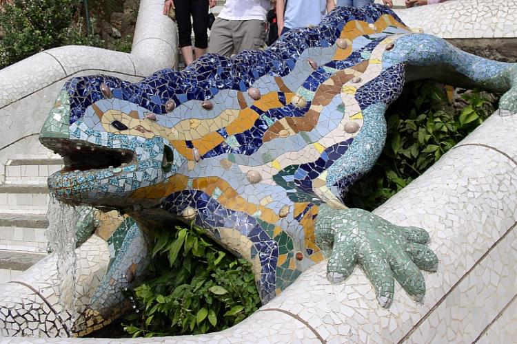 Visit Gaudi's famous Park Guell and take a picture with the famous gecko guarding the entrance!