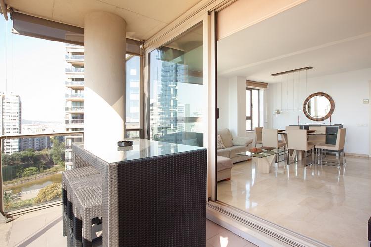 Enjoy a sunny breakfast on the balcony