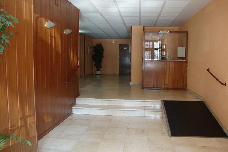 The building has a clean and inviting reception area.
