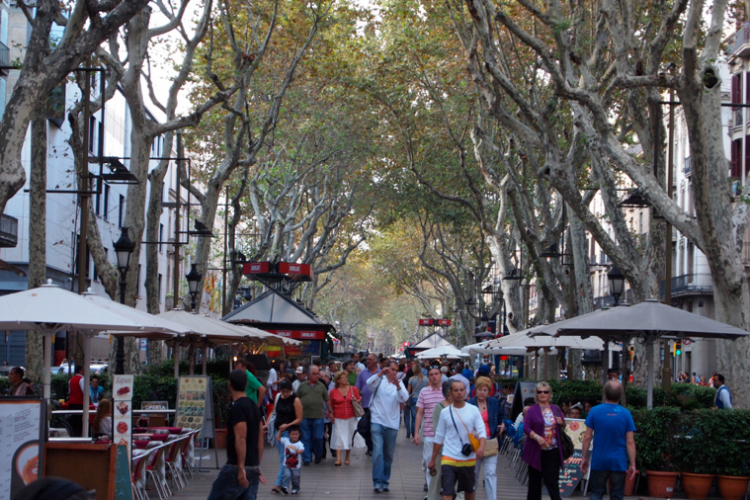 The apartment is located 3 minutes walking distance from the Ramblas and the city center.