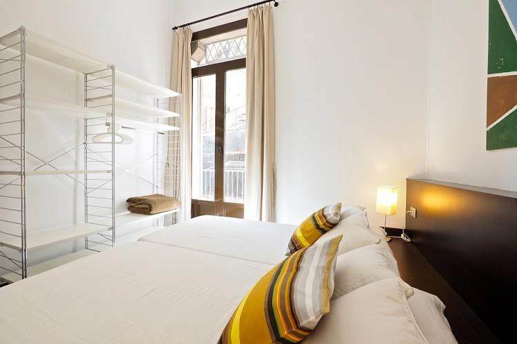 Both bedrooms are provided with bed linen