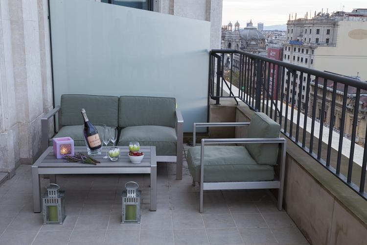 Espectacular piso con terraza en el centro de Barcelona.