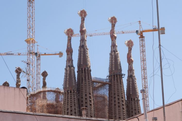 View to the amazing Sagrada Familia