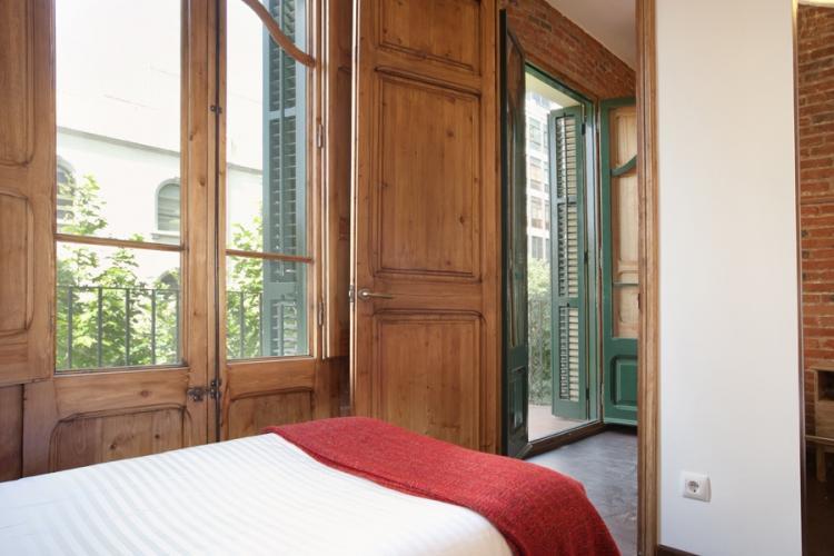 Nice room with a window door