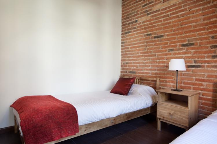 Nice room with its esthetic brickwall