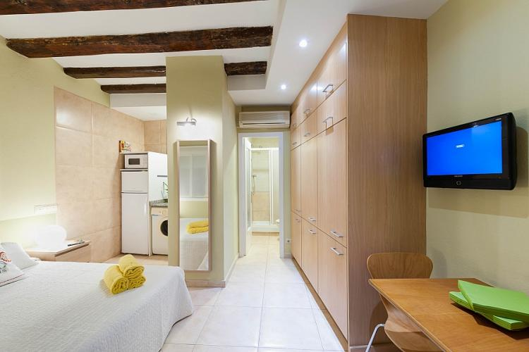 The studio has almost 30 square meters perfect for one person or a couple.