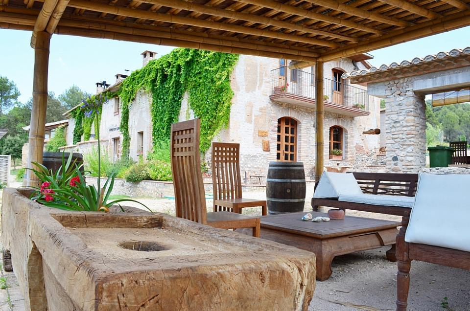 Mas a con encanto en el pened s barcelona home - Alquiler casas rurales barcelona ...