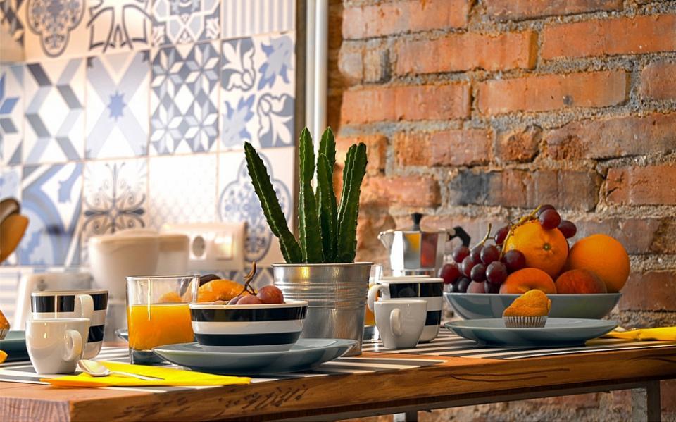 wohnung mit privater terrasse in der innenstadt barcelona home. Black Bedroom Furniture Sets. Home Design Ideas